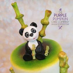 Panda rainbow cake