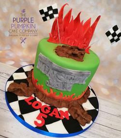 Monster truck cake no cars