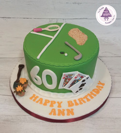 mixed themed cake ladies