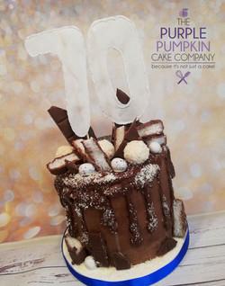 Bounty themed drip cake