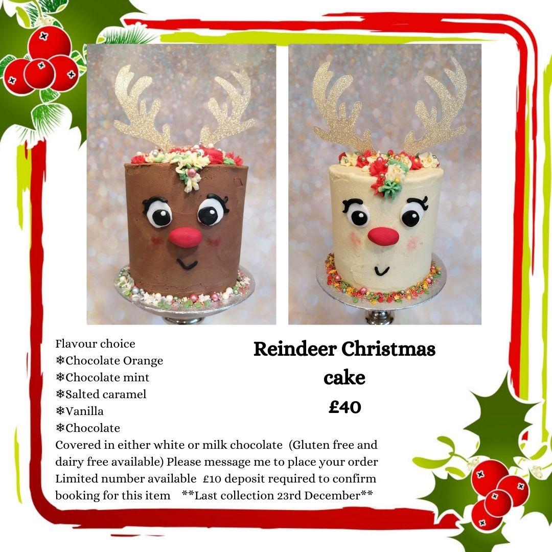 Reindeer Christmas cakes