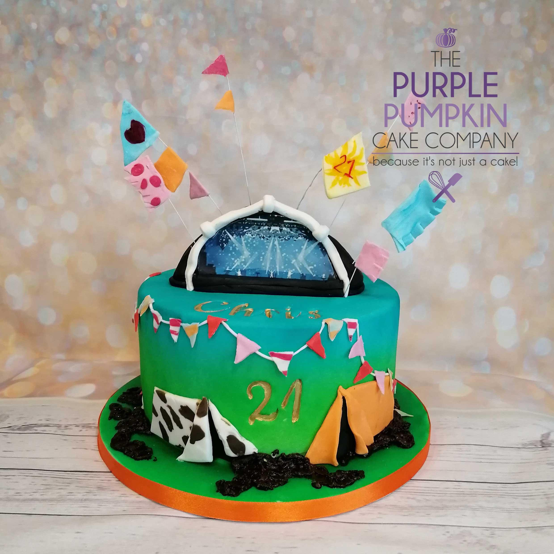 Glastonbury festival cake