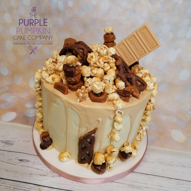 Popcorn drip cake