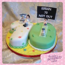 Personalised number 70 cake