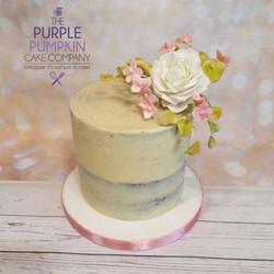 One tier wedding naked cake