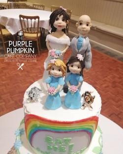 Children's design wedding cake