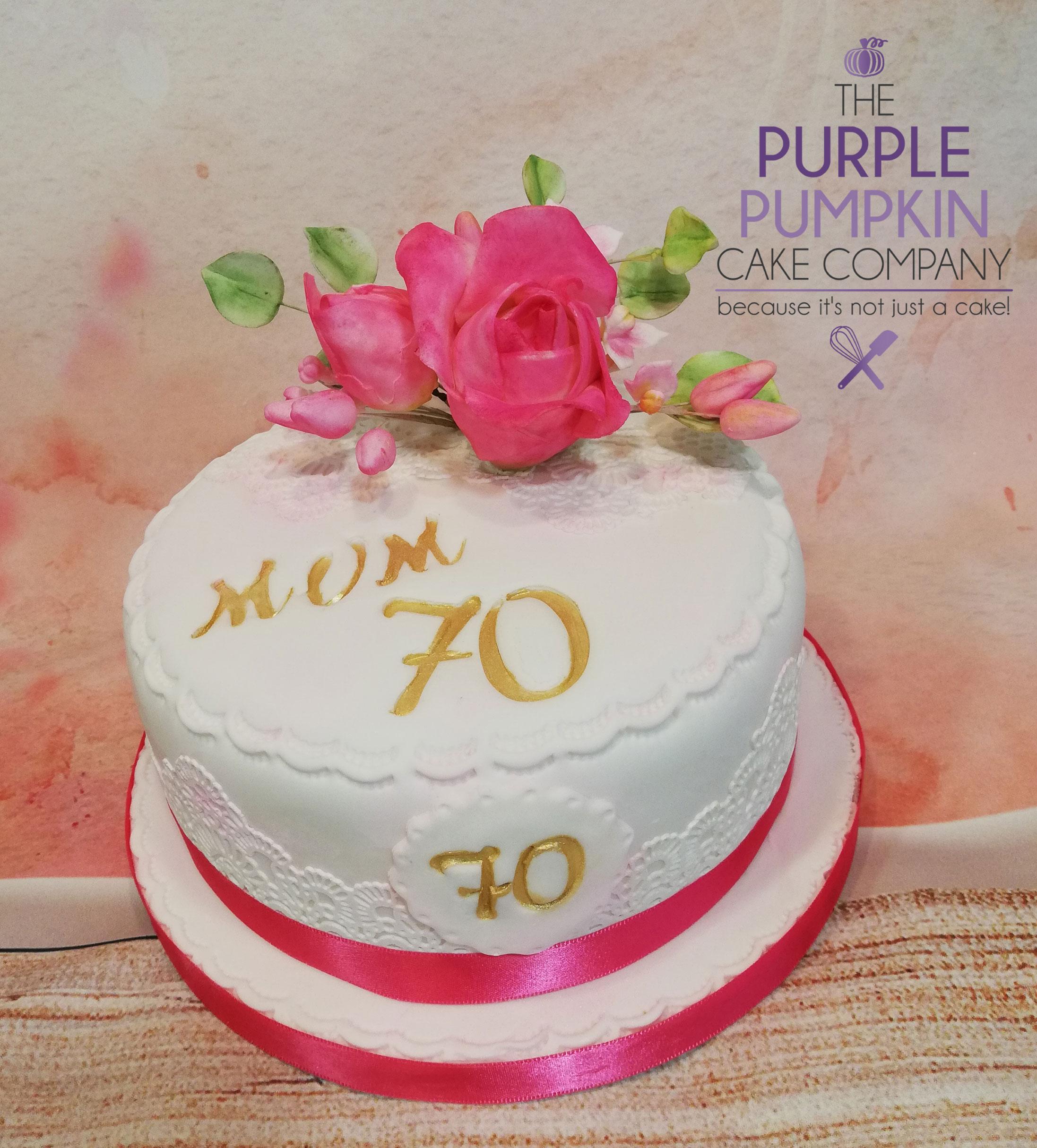 Pink rose 70th