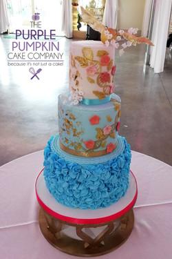 Saree themed wedding cake