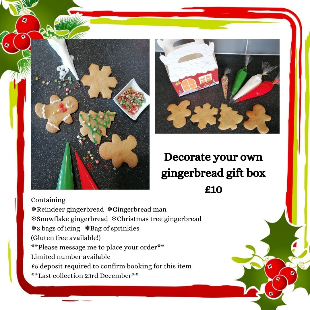 Decorate your own gingerbread Christmas