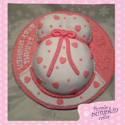 Pink Baby Bump Cake