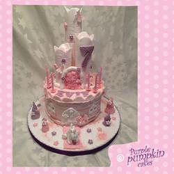 pink unicorn castle