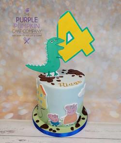 Mr Dinosaur no 4 cake