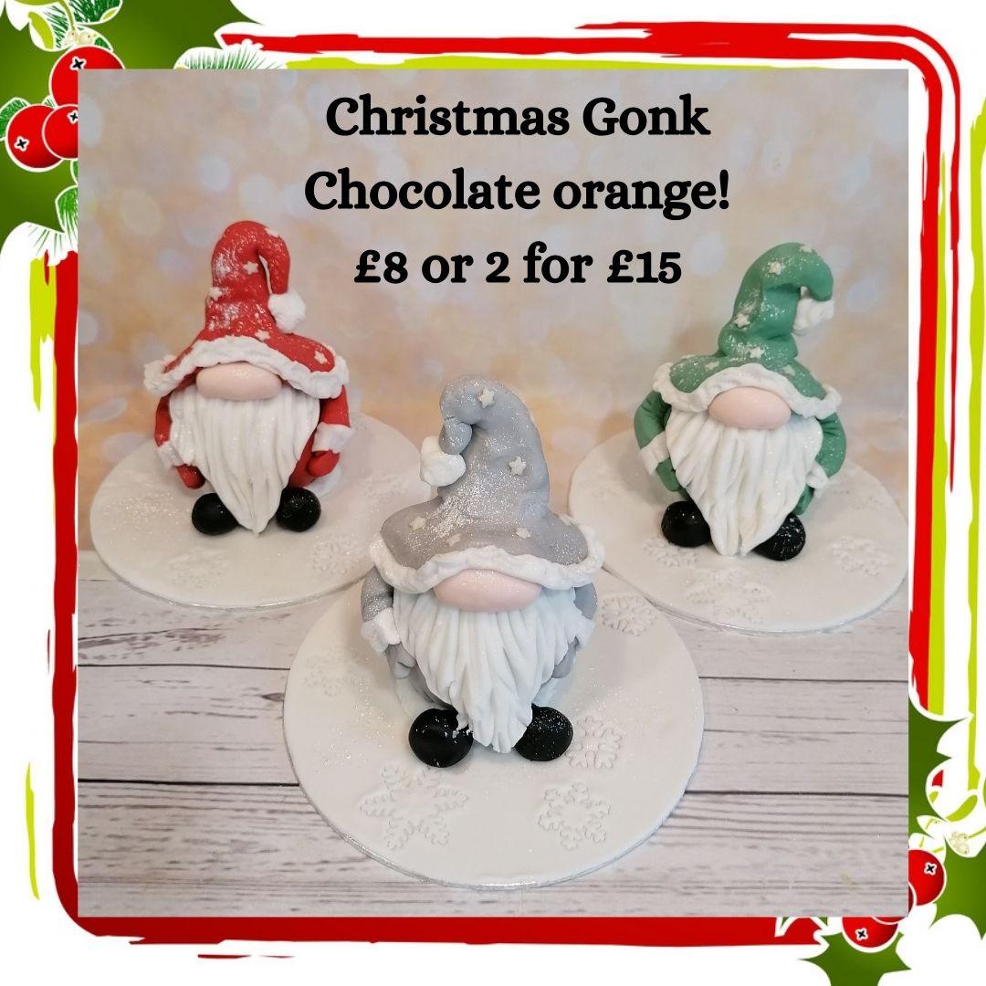 Christmas Gonk chocolate orange