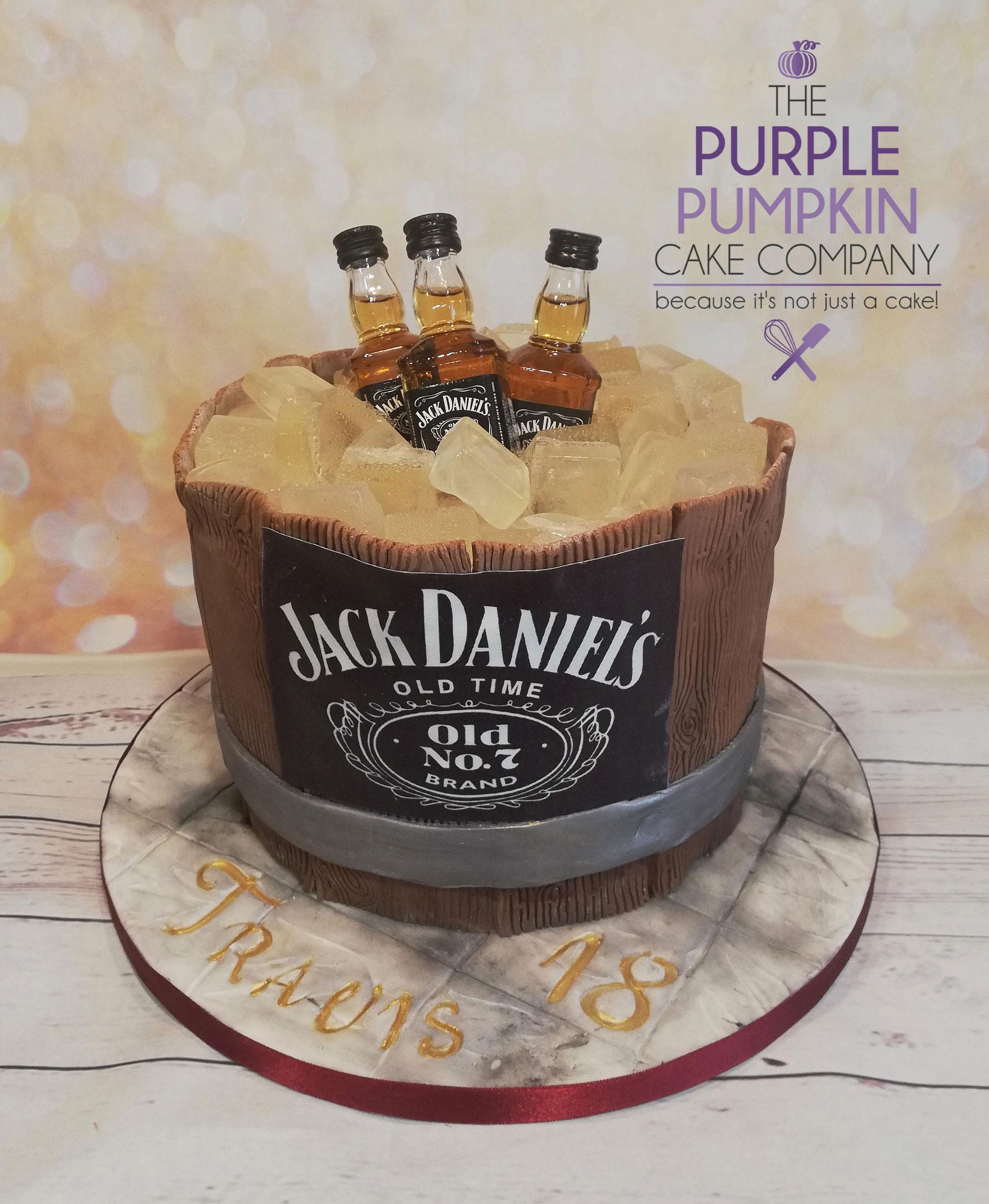 Jack Daniels themed barrel