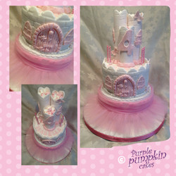 ballet theme castle cake