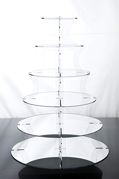 1,2,3,4,5 or 6 tier mirrored stand