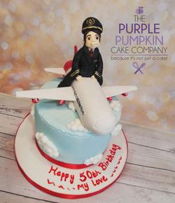 Virgin plane pilot cake