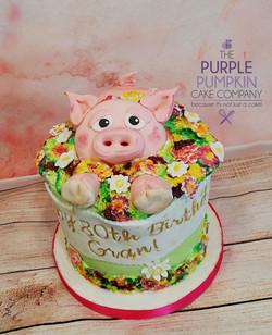 Pig in bloom