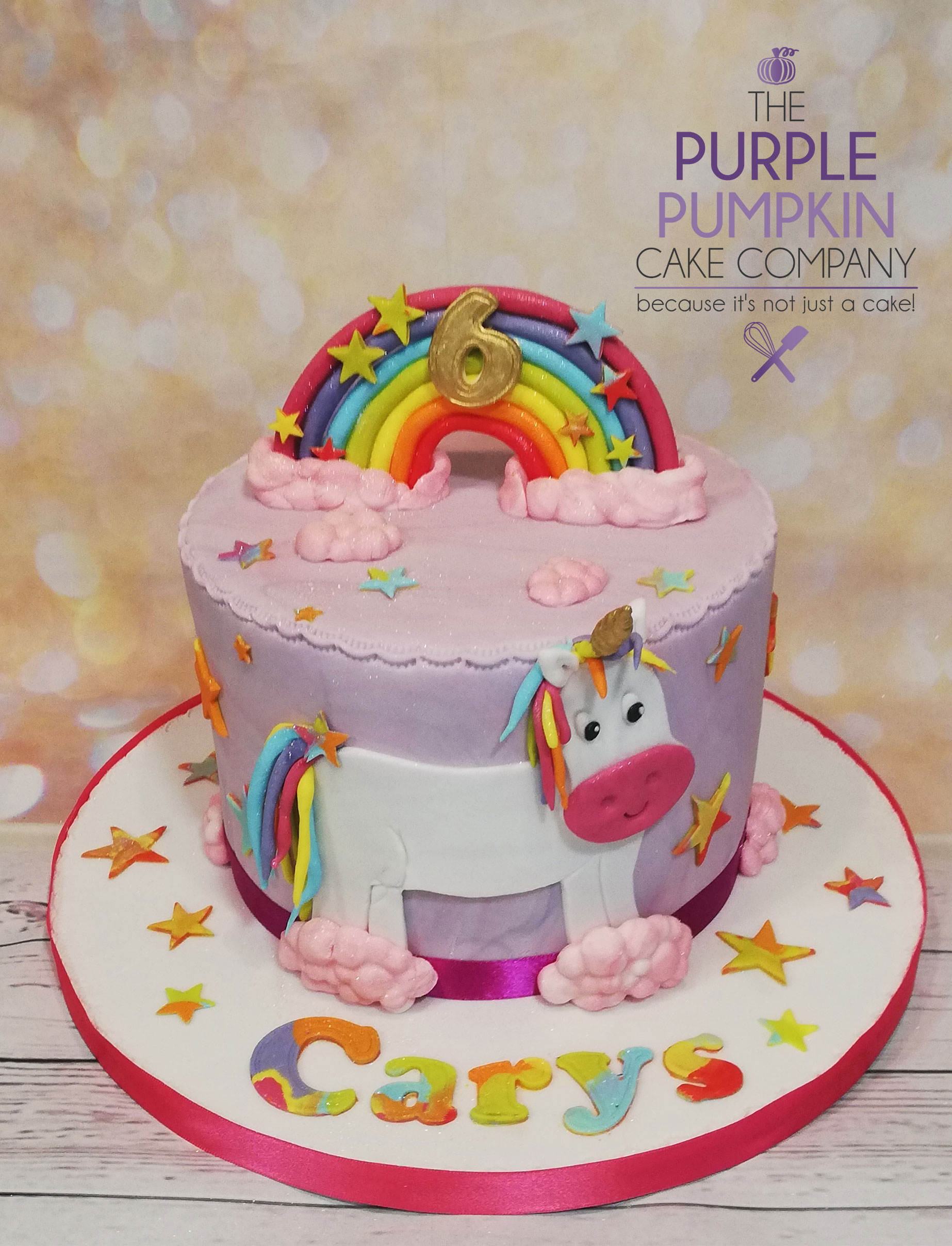 Purple unicorn rainbow