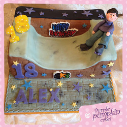 Roller Skating Birthday Cake