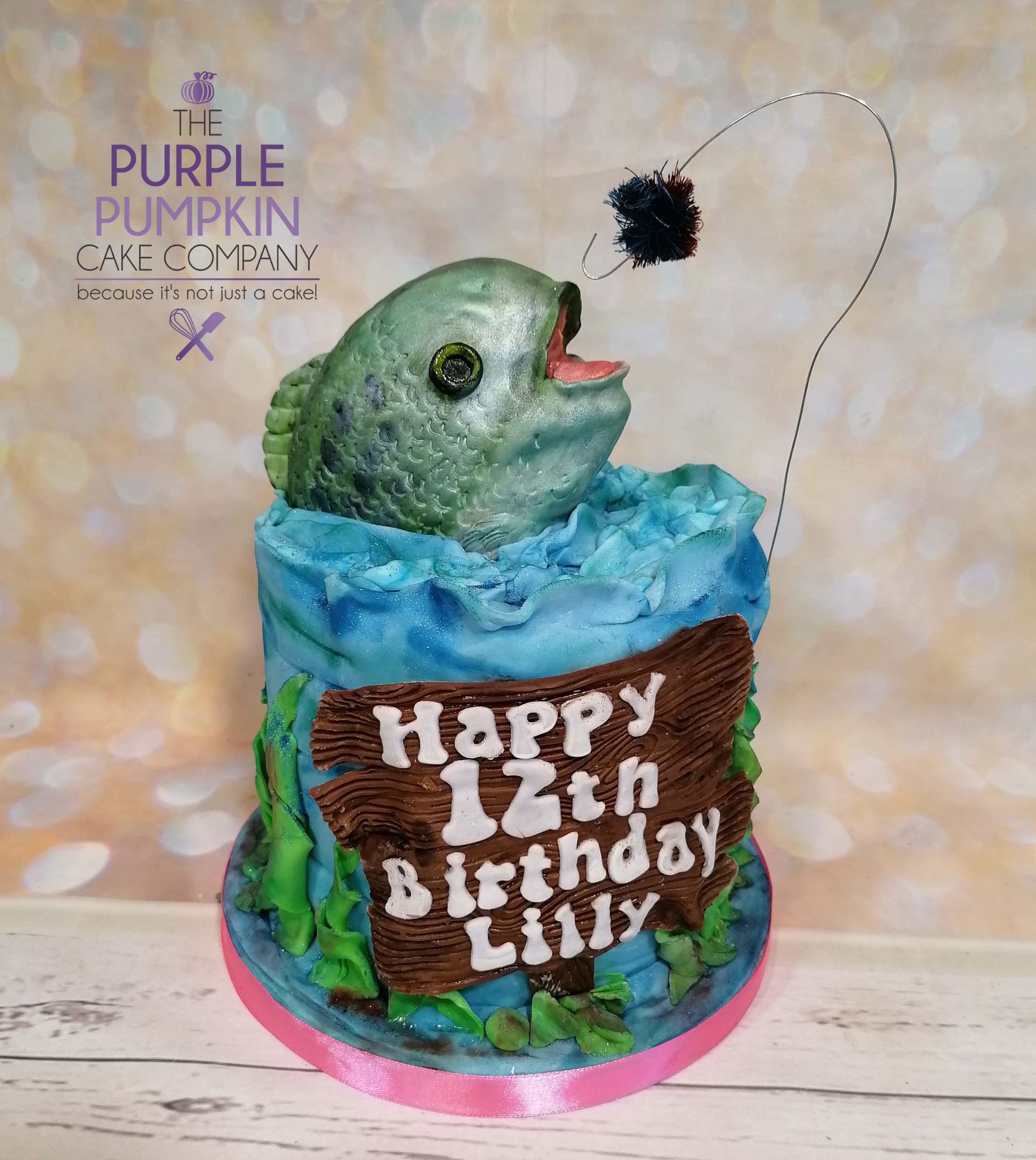 Fish on the hook cake