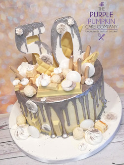 Silver drip 50 cake