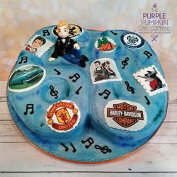 Rockabilly aged 60 cake