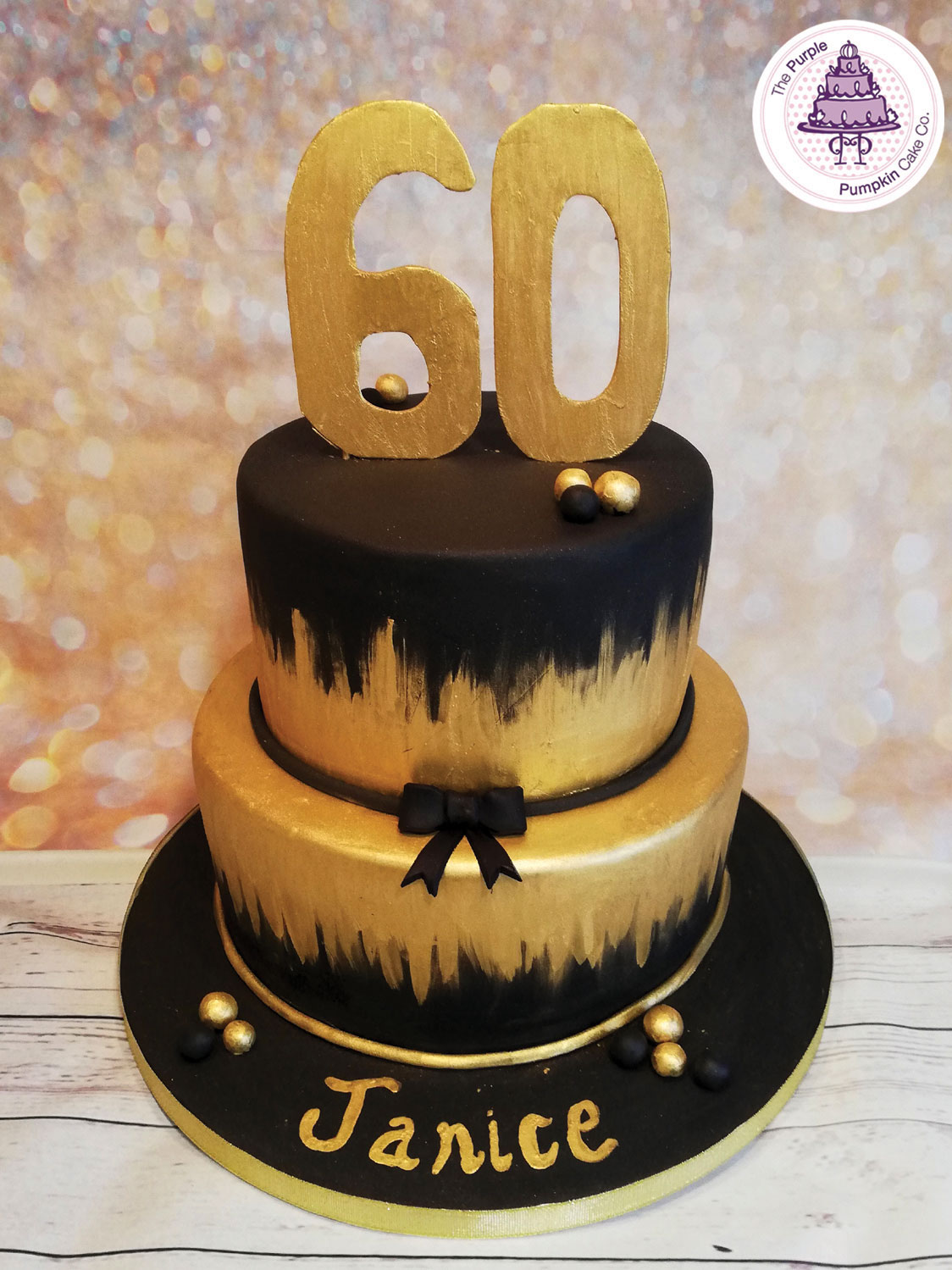 Black and gold 60th
