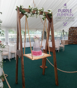 Double sided wedding swing cake