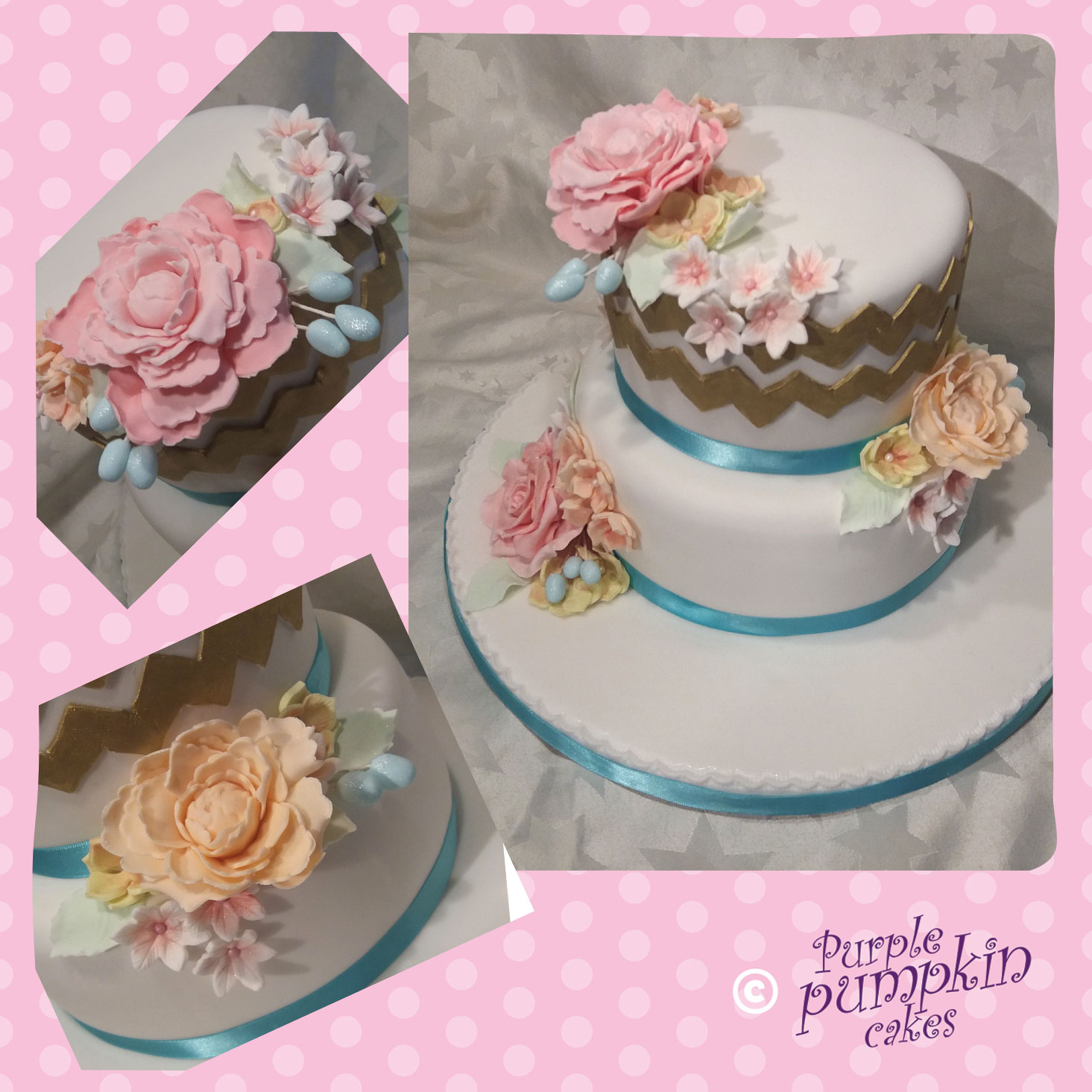 Floral two tier