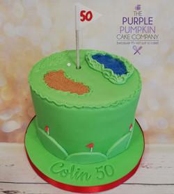 Simple golfing cake