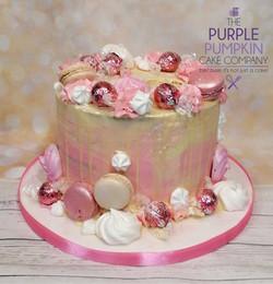 Pink drip cake no bottle