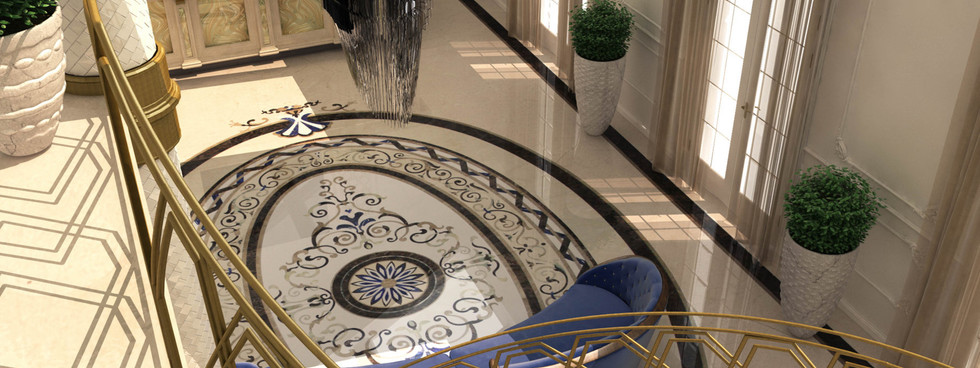 Stoneworks in a luxury hall