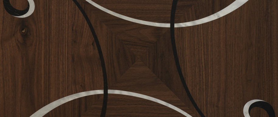 Inlaid floors and surface