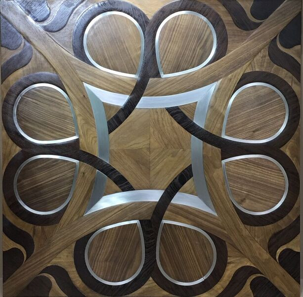 Inlaid wooden decorations