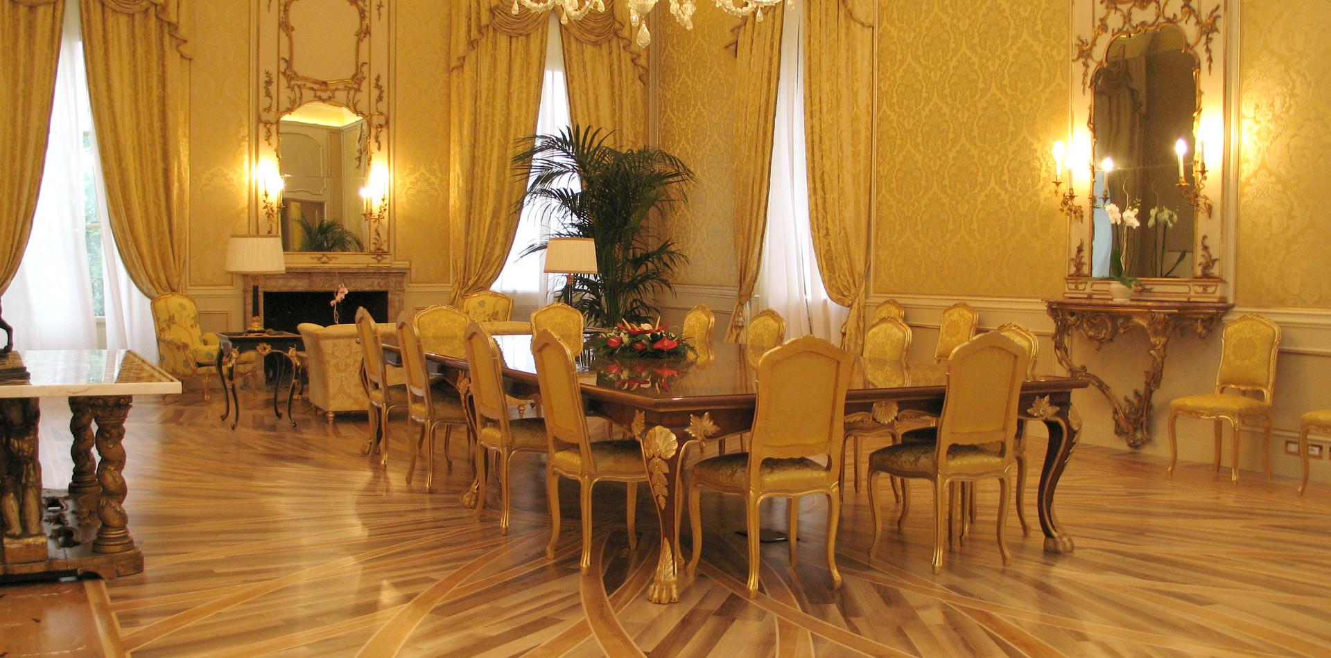 Wooden floor room