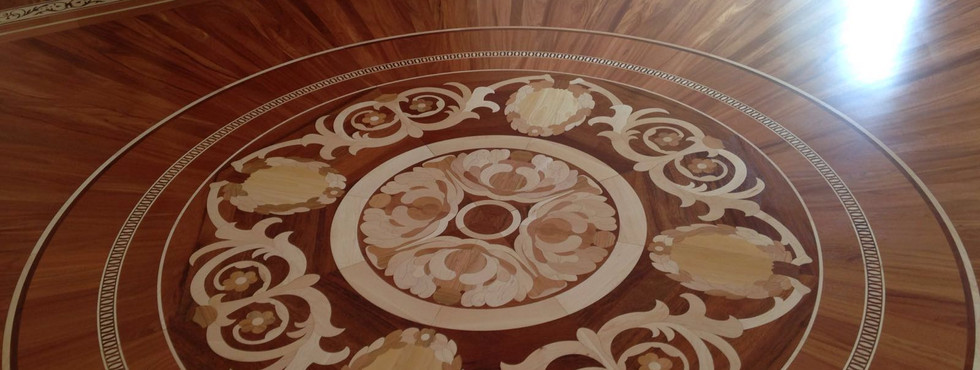Inlaid wooden surfaces