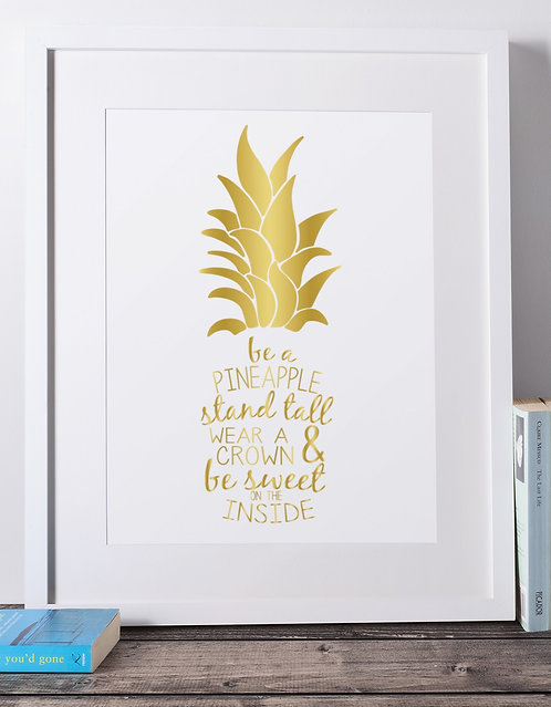 Be a Pineapple Framed Decor