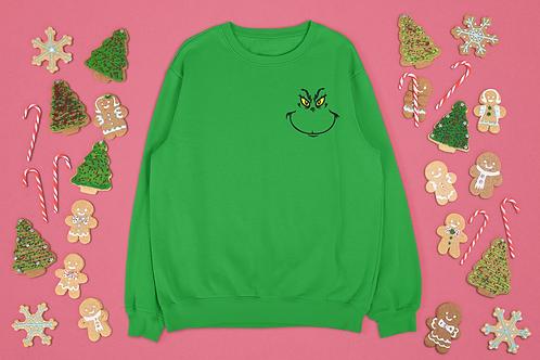 Grinch Patch Sweatshirt