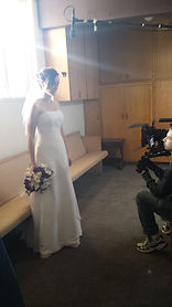 Siobhan Doherty on set shooting If Ever There's a Tomorrow.