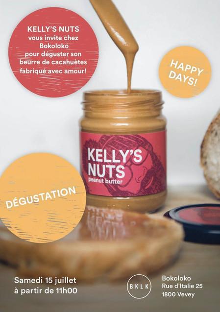 Dégustation du beurre de cacahuète Kelly's Nuts made in Vevey le samedi 15 juillet!