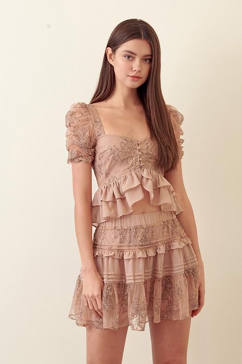 the daisy floral miniskirt