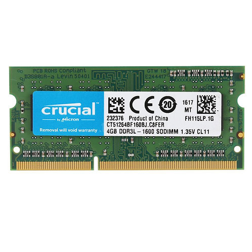 Crucial Ram 8GB DDR3 For Laptops
