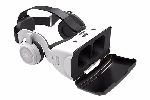 SHINECON 3D VR Glasses Virtual Reality Headset with Earphones White