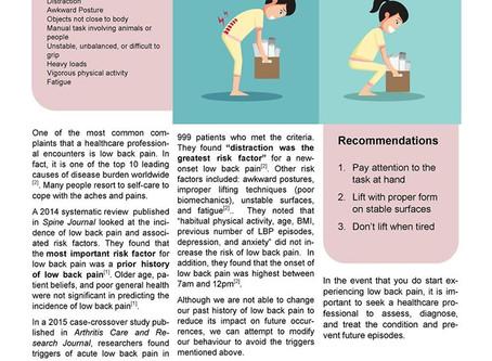 Avoiding Low Back Pain Triggers