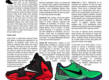 Do high-top basketball shoes prevent ankle sprains?
