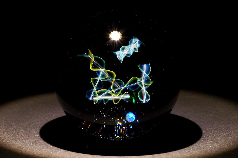 Kazuaki Hayakawa Glass art infosphere 早川和明ガラス 宇宙 情報