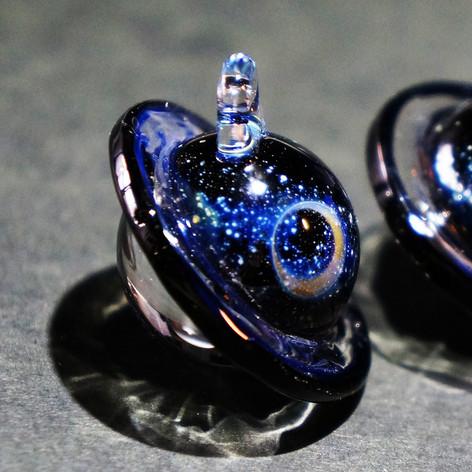 3D wa ペンダントトップ 土星 早川和明ガラスアート kazuaki hayakawa glass art