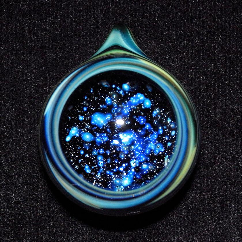 宇宙 ガラス 早川和明ガラスアート 星 ペンダントトップ glassart kazuakihayakawa