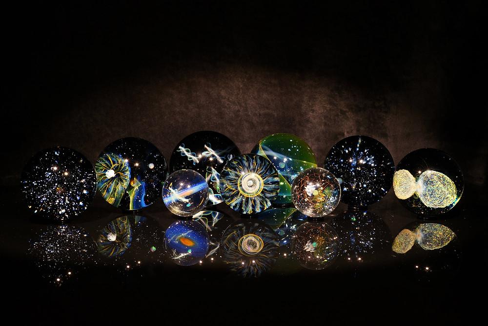 早川和明 ガラスアート,宇宙,星,天体,ガラスオブジェ,glassart,ウクライナ,ukraine,universe,object